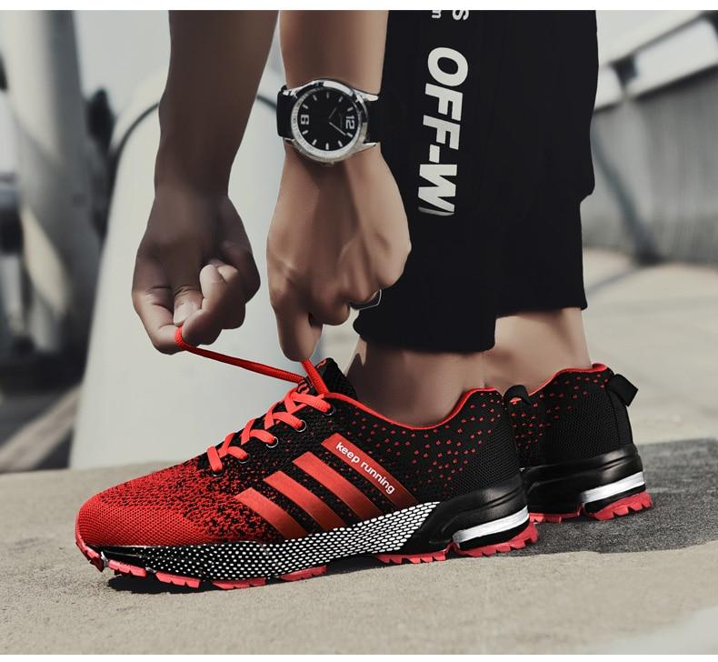 Hot Selling Men Breathable Running Shoes Fashion Sports Sneakers