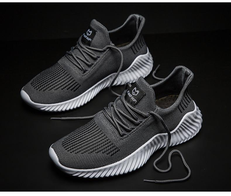 New Arrival Men Breathable Mesh Lace-up Outdoor Sneakers