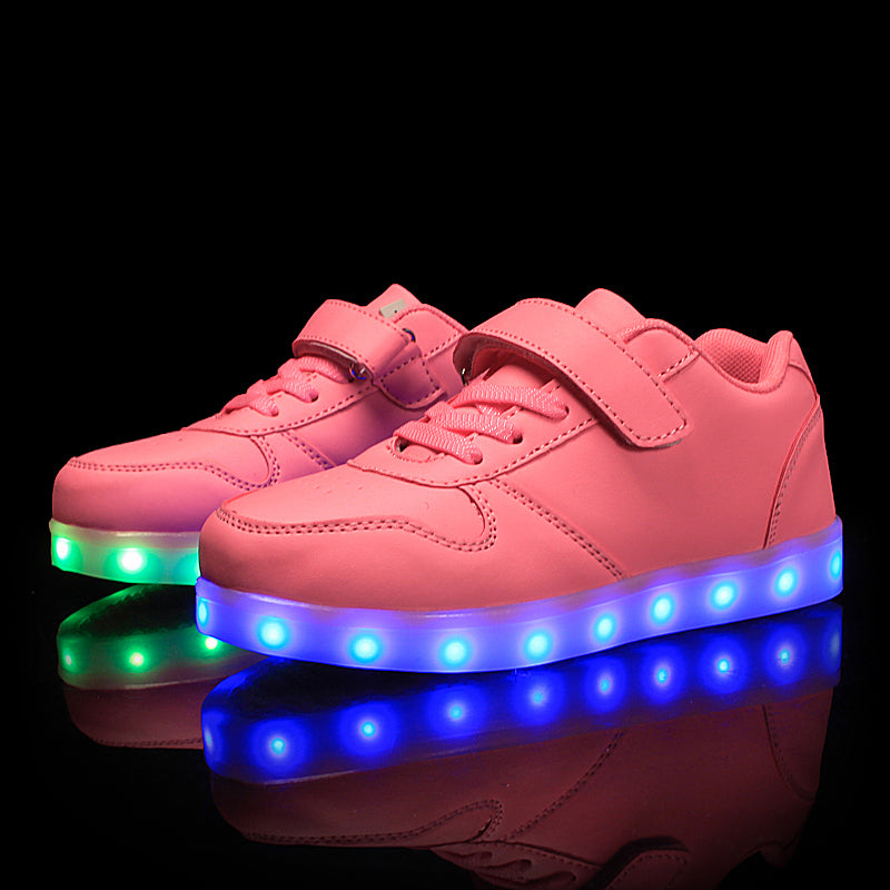 Boys LED Light Shoes Glowing Luminous Sneakers