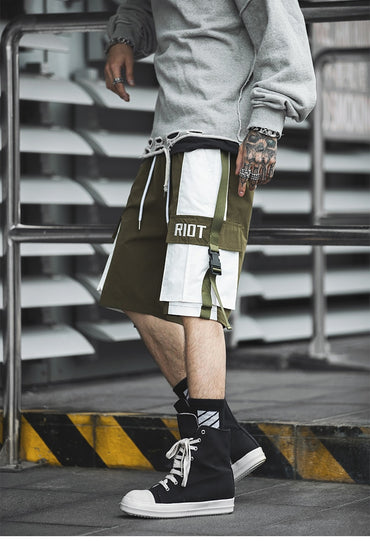 Men Streetwear Khaki Fashion Cargo Shorts