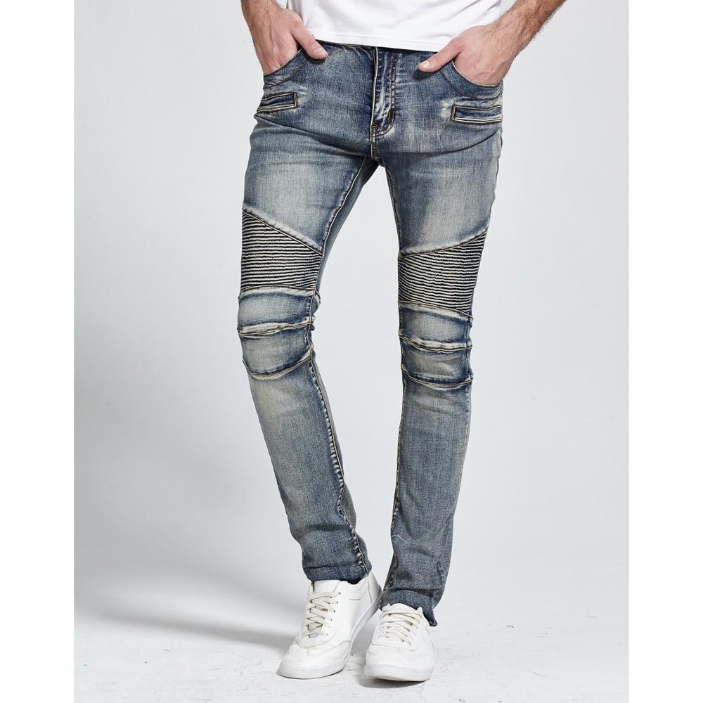 Men Jeans New Fashion Design Skinny Strech Casual Jeans