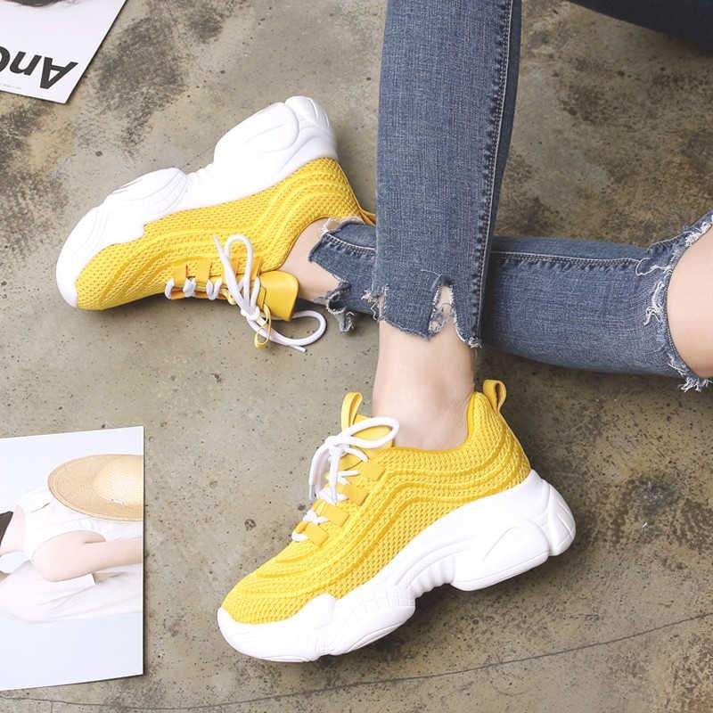 Women Sneakers Fashion Comfortable Flat Platform Air Mesh Casual Shoes
