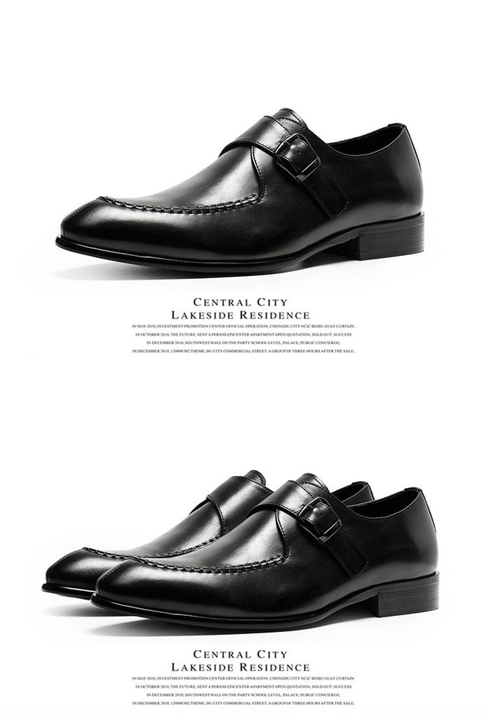 Men Dress Shoes Genuine Leather England Style Fashion Oxfords Shoes