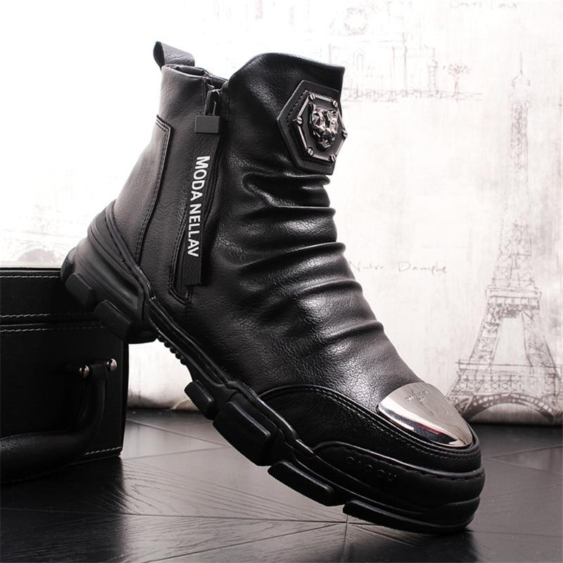 Men Boots Handmade Genuine Leather Fashion Super Quality Brand Designer