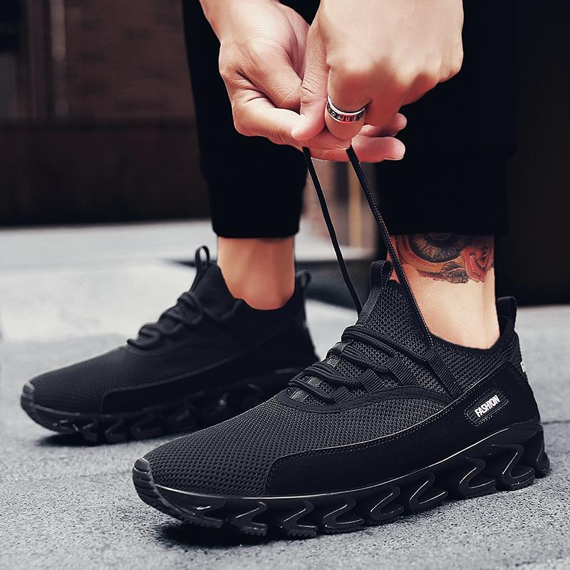 Men Hot Fashion Blade Shoes Breathable Mesh Casual Sneakers