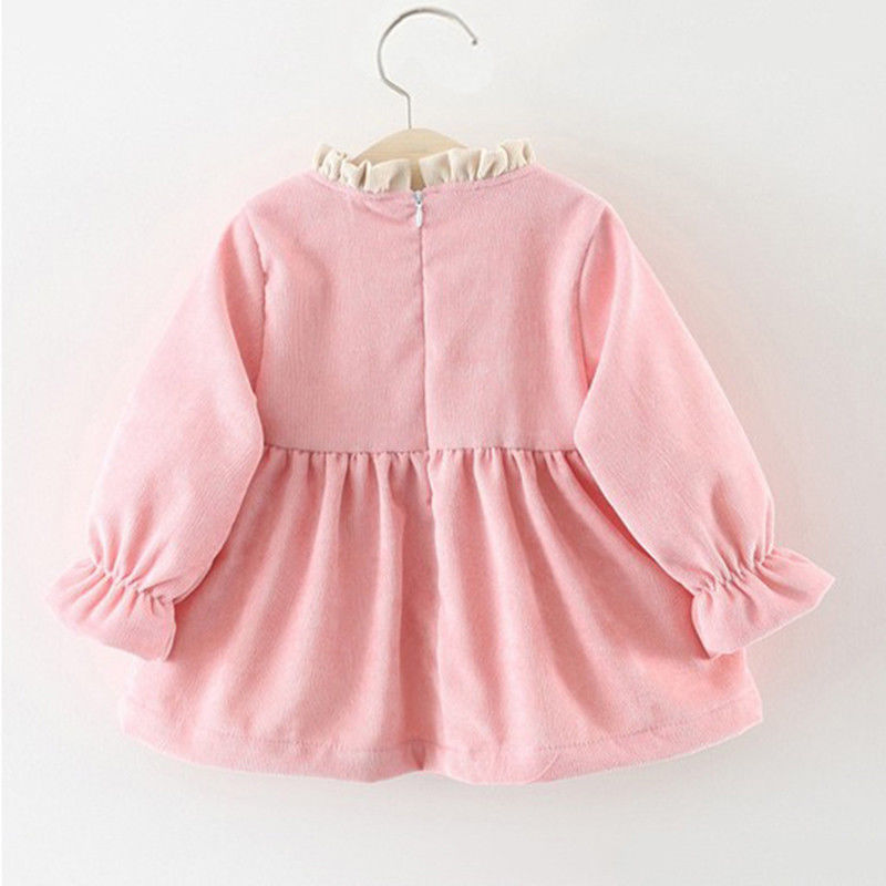 Toddler Girl Big Bow Party Wedding Princess  Long Sleeve Thick Tutu Dress
