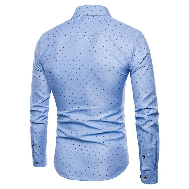 Men's New Arrival British Style Casual Long Sleeve Dress Shirt
