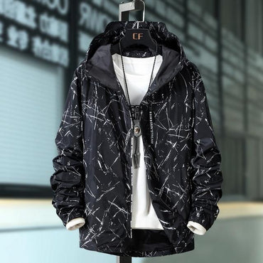 Men Jacket Casual Camouflage Hooded Windbreaker Jacket