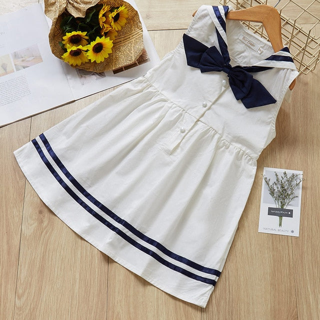 Toddler Girl College Sailor Suit Cute Dress