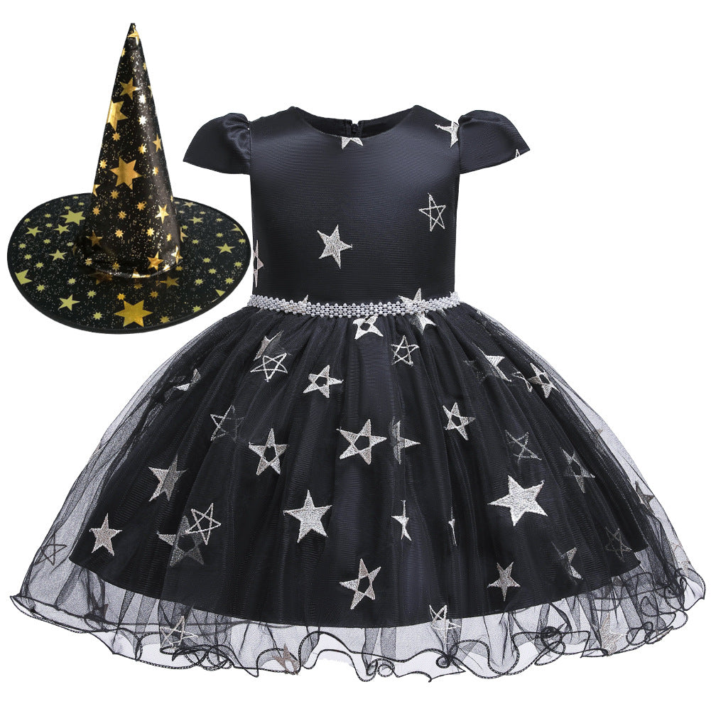 Fantasy Witch Dress Set For Toddler Girls