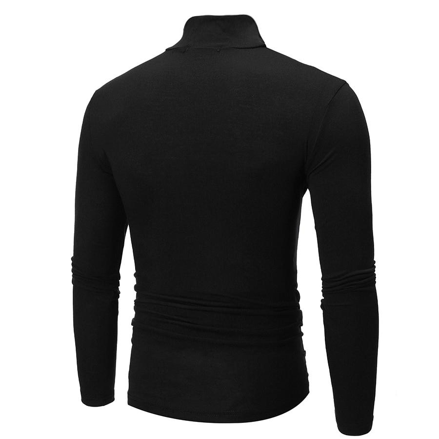 New Fashion Men Sweater Slim Fit Design Solid Color Casual Pullovers