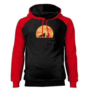 Men Hoodies The Lion King Hakuna Matata Raglan Sportswear Hoodies