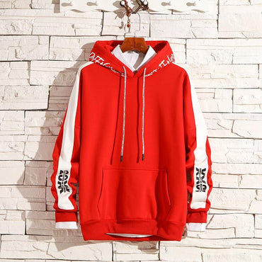 Men Hoodies Harajuku Letter Printed Hip Hop Fashion Style Hoodies