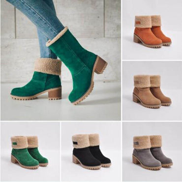 Best Seller Women Winter Boots New Fashion Flock Warm Slip On Ankle Boots
