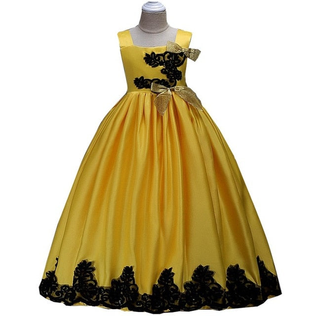 Elegant Girls Dress Embroidery Princess Party Pageant Formal Dress