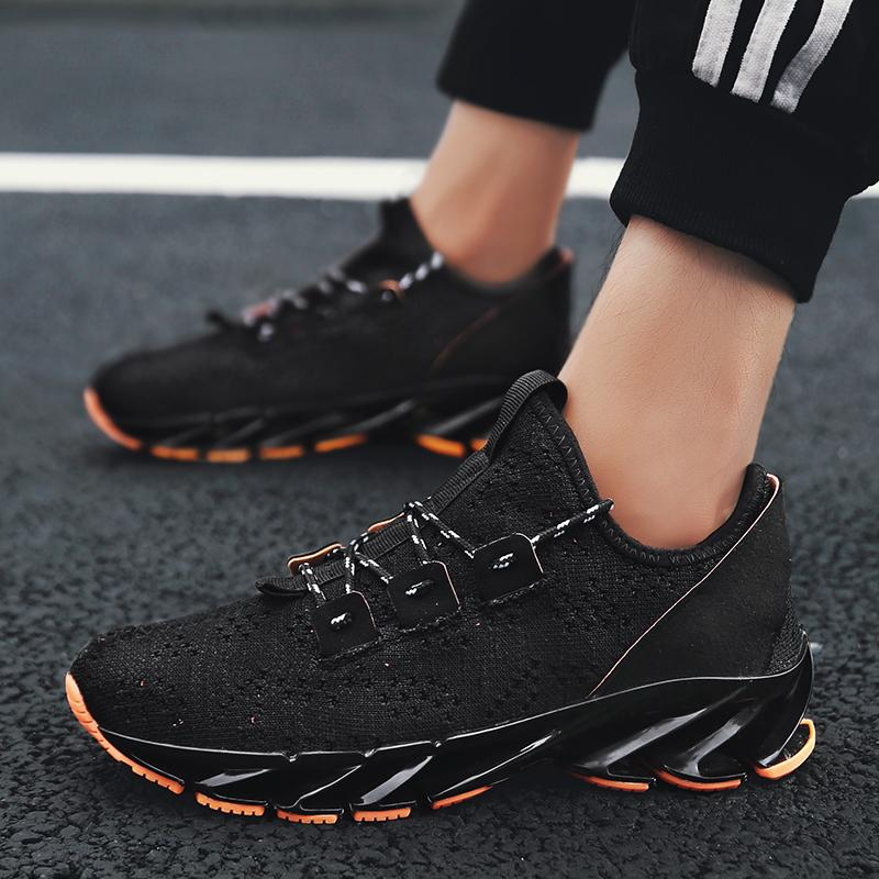 Men's Blade Sneaker Brand Design Breathable Sport Shoes Anti-Skid