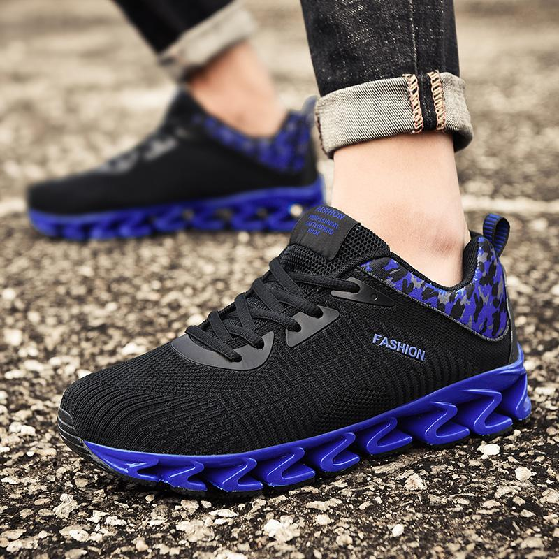 Men Running Shoes Mesh Breathable Sport Blade Sneaker