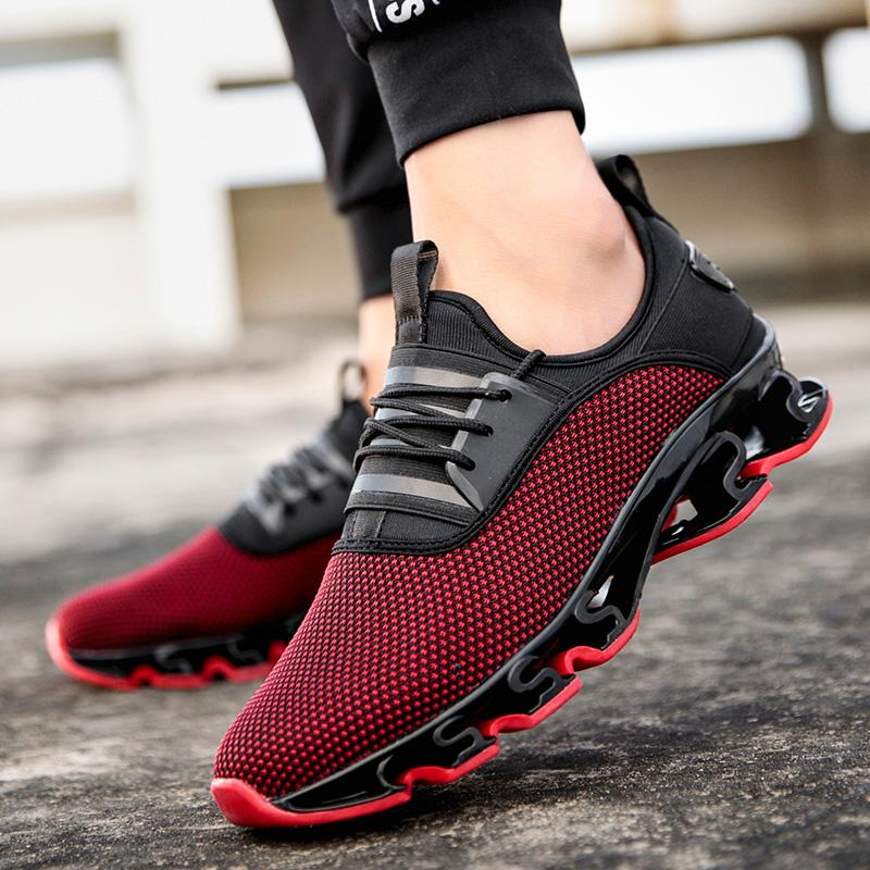 Breathable Men Running Shoes Cushioning Outdoor Fashion Design Blade Sneakers