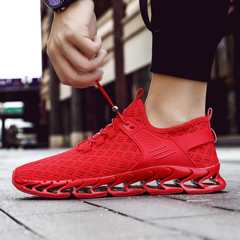 Men Running Shoes Blade Sneakers Cushioning Outdoor Sport Jogging Athletic Shoes