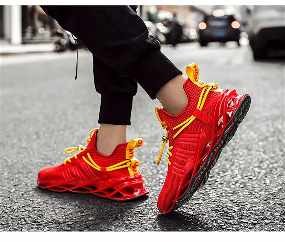 Unique Style Men Blade Sneakers Fashion Breathable Comfortable Sports Casual Shoes