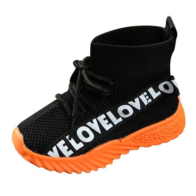 Letter Stretch Run Sneakers Sport Shoes Boots