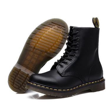 Men Boots Genuine Leather British Fashion Martens Ankle Boots