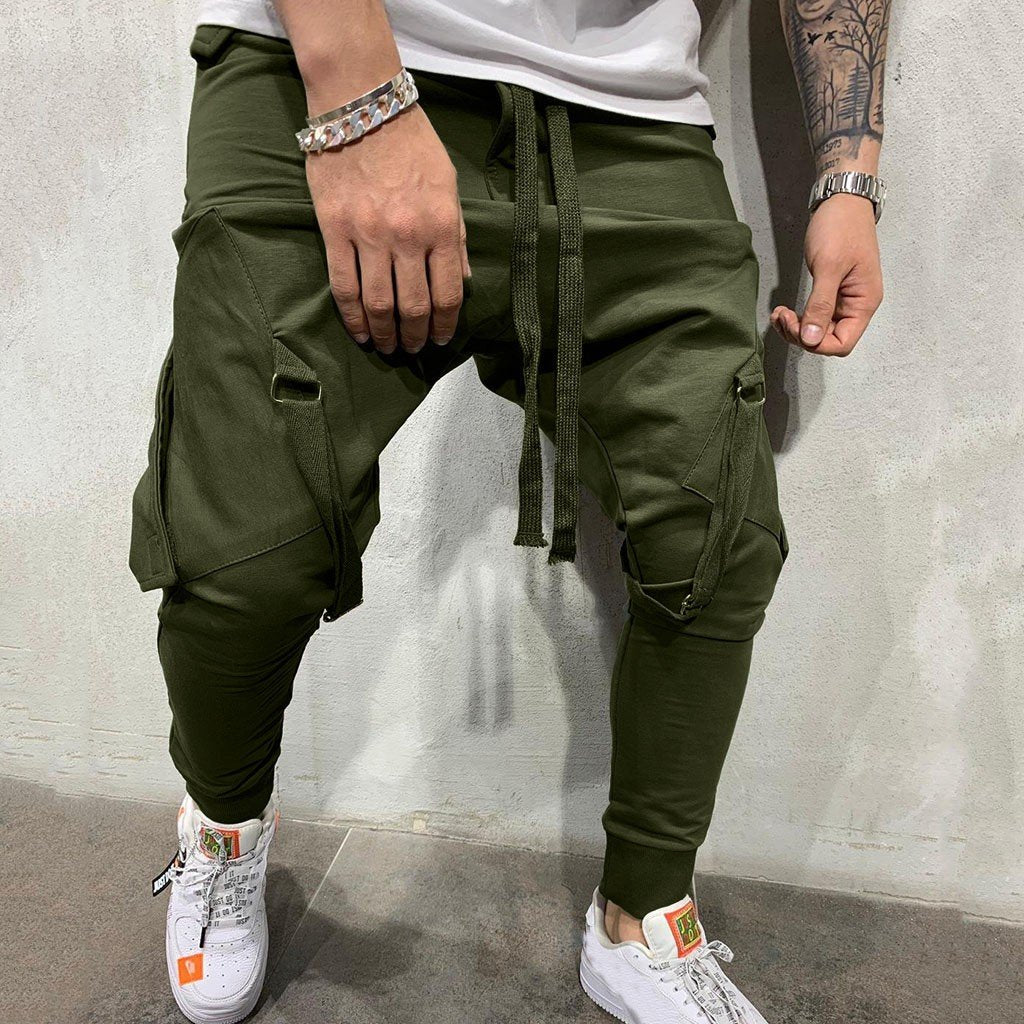 Men Joggers Fashion Drawstring Comfortable Casual Outdoors Cargo Pants
