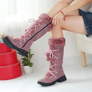 New Fashion Women Winter Boots High To Thigh Warm With Zipper