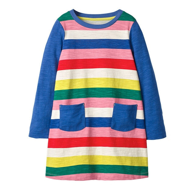 Cute Rainbow Sequins Toddler Girl Dress