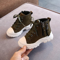 Boys Martin Boots Fashion Warm Non Slip Soft Bottom Casual Shoes