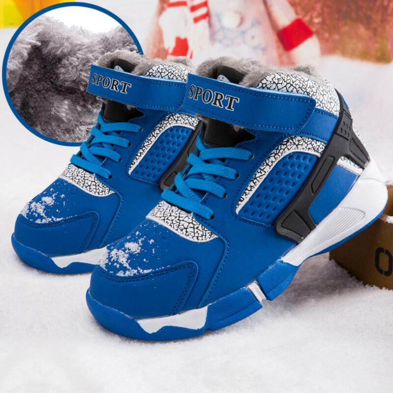 New Arrival Boys Boots Hook Loop Round Toe Light Sneakers