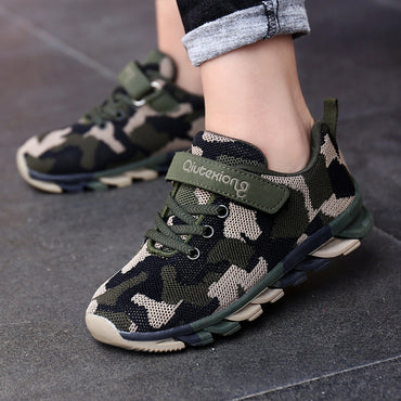 Cute Boys Sneakers Casual Fashion Camouflage Breathable Air Mesh Shoes