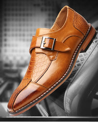Italian Design Men Leather Oxford Dress Shoes