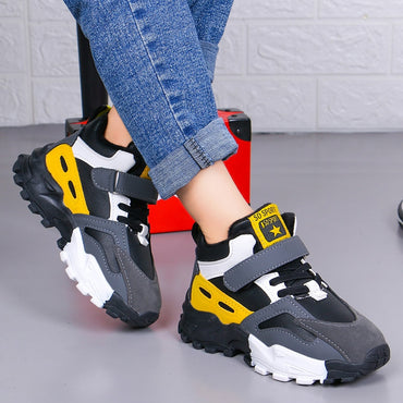Boys Casual Shoes Fashion Running Plush Lining Warm Sneakers