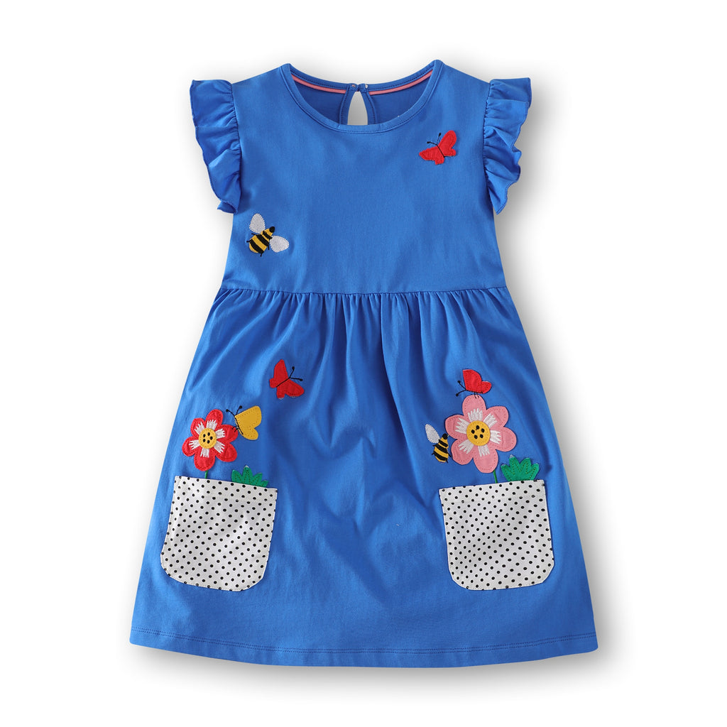 Toddler Girls Dress Cute Pattern Print