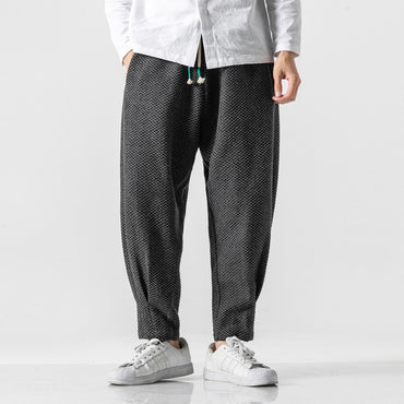 Men Thicken Wool Street Style Casual Harem Pants