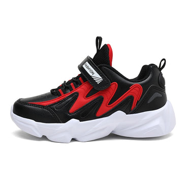 Best Selling Boys Running Shoes Leather Surface Waterproof Sneakers