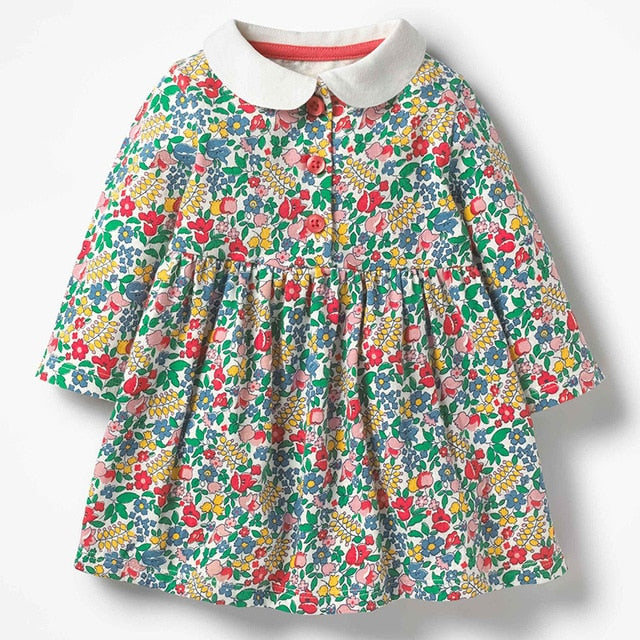 Cute Toddler Girls Wave Point Dress