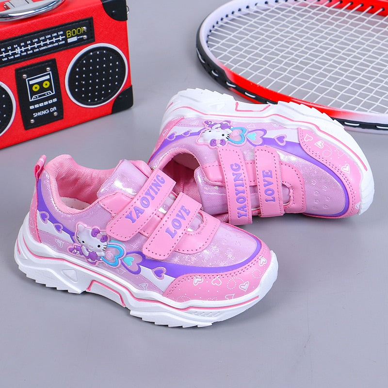 Cute Kitty Girls Mesh Breathable Casual Shoes