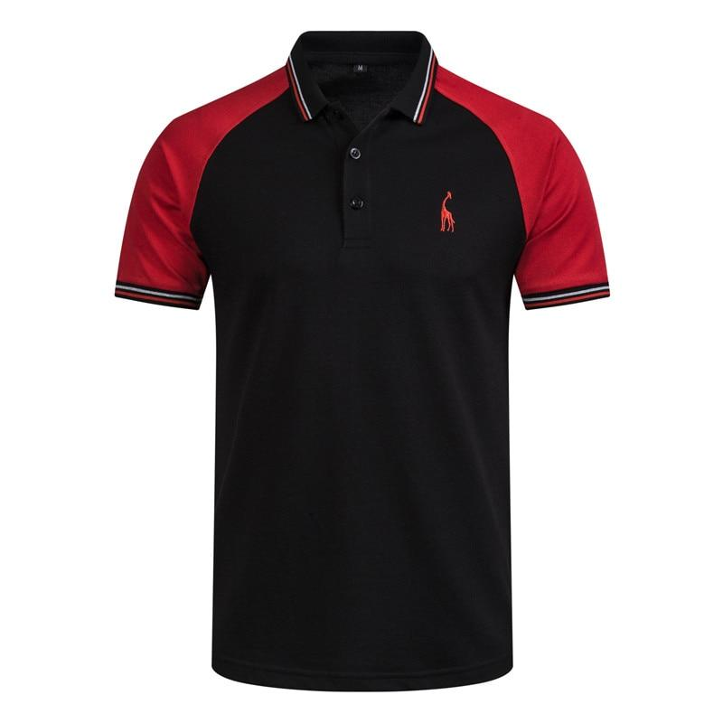 High Quality Men Patchwork Slim Fit Polo Shirt