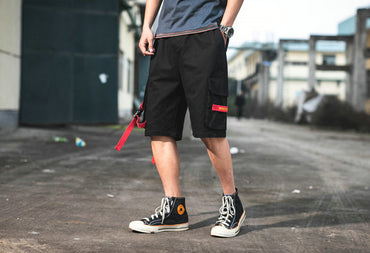 Fashion Streetwear Men Cotton Pockets Casual Shorts