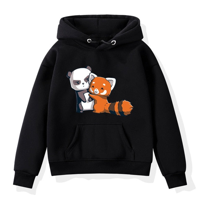 Cute Panda Print Girl Fashion Long Sleeves Hoodies