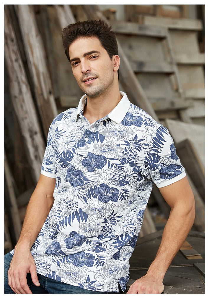 Fashion Design Top Quality Cotton Print Off Men Polo Shirt