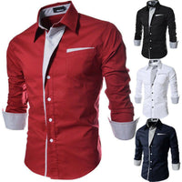 New Arrival Men Fashion Design Long Sleeve Cotton Dress Shirt