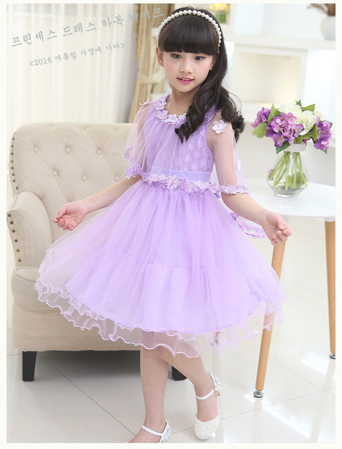 Toddler Girl Dress Floral Design Party Princess Dress