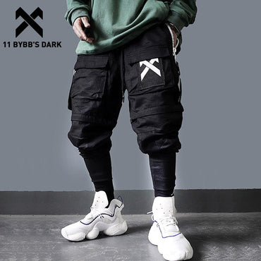 Men Detachable Multi Pocket Hip Hop Cargo Pants