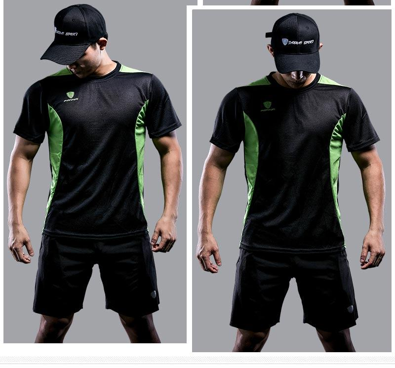 Men Quick Dry Short Sleeve Sporty T-Shirt