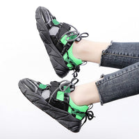 Women Fashion Increasing Height Platform Chunky Sneakers