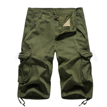 Men Solid Army Military Style Fashion Cargo Shorts