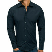 Men High Quality Cotton Fashion Long Sleeve Shirt